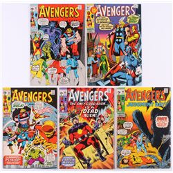 """Lot of (5) 1971 """"The Avengers"""" 1st Series Marvel Comic Books with #88, #89, #90, #91  #92"""
