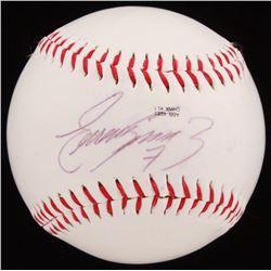 Eugenio Suarez Signed Bats Logo Baseball (JSA COA)