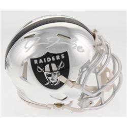 Josh Jacobs Signed Oakland Raiders Chrome Speed Mini-Helmet (Radtke COA  Jacobs Hologram)
