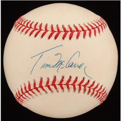 Tim McCarver Signed ONL Baseball (JSA COA)