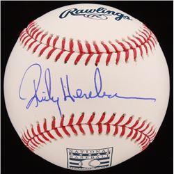 Rickey Henderson Signed Hall of Fame OML Baseball (JSA COA)