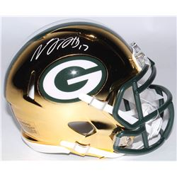 Davante Adams Signed Green Bay Packers Chrome Speed Mini Helmet (JSA COA)