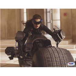 """Anne Hathaway Signed """"The Dark Knight Rises"""" 8x10 Photo (PSA Hologram)"""
