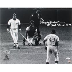 "Reggie Jackson Signed New York Yankees 16x20 Photo Inscribed ""3 HR W.S. 10-18-77"" (JSA COA)"