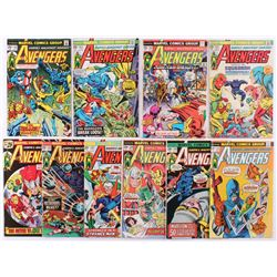 """Lot of (10) 1975-76 """"The Avengers"""" 1st Series Marvel Comic Books with #137-146"""