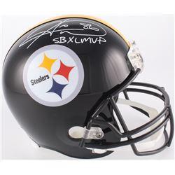 "Hines Ward Signed Pittsburgh Steelers Full-Size Helmet Inscribed ""SB XL MVP"" (JSA COA)"