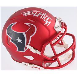 J.J. Watt Signed Houston Texans Blaze Speed Mini-Helmet (JSA COA  Watt Hologram)