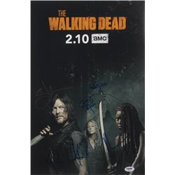 """""""The Walking Dead"""" 12x18 Photo Cast-Signed by (6) with Norman Reedus, Cailey Fleming, Avi Nash, Coop"""