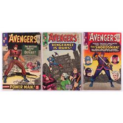 """Lot of (3) 1965 """"The Avengers"""" 1st Series Marvel Comic Books with #19, #20  #21"""