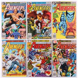 """Lot of (6) 1978-79 """"The Avengers"""" 1st Series Marvel Comic Books with #178, #179, #180, #181, #182  #"""