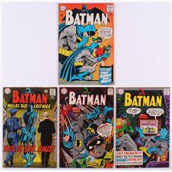 "Lot of (4) 1965-68 ""Batman"" DC Comic Books with #177, #183, #196  #206"