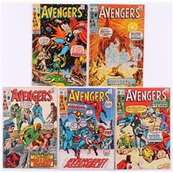 "Lot of (5) 1970-71 ""The Avengers"" 1st Series Marvel Comic Books with #81, #82, #83, #84  #85"