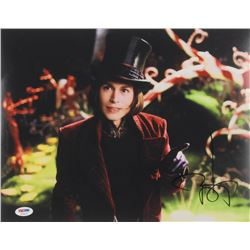 "Johnny Depp Signed ""Charlie and the Chocolate Factory"" 11x14 Photo (PSA COA)"
