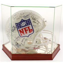 NFL Hall of Famers Full-Size Authentic On-Field Helmet Signed by (37) with Johnny Unitas, Sammy Baug