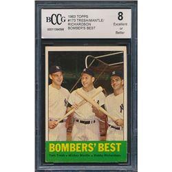 1963 Topps #173 Bomber's Best Tom Tresh / Mickey Mantle / Bobby Richardson (BCCG 8)