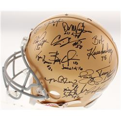 Notre Dame Fighting Irish Legends Full-Size Authentic On-Field Helmet Team-Signed by (22) with Joe T