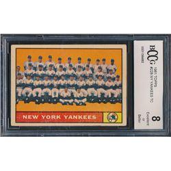 1961 Topps #228 New York Yankees Team Card (BCCG 8)