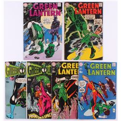 """Lot of (6) 1969-70 """"Green Lantern"""" 1st Series DC Comic Books with #67, #68, #70, #71, #72  #74"""