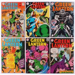 """Lot of (6) 1967-69 """"Green Lantern"""" 1st Series DC Comic Books with #55, #56, #57, #58, #62  #66"""