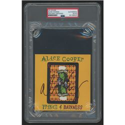 """Alice Cooper Signed """"Prince of Darkness"""" CD Cover (PSA Encapsulated)"""
