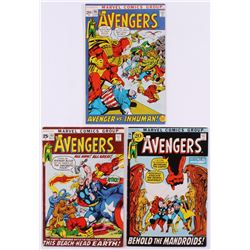 """Lot of (3) 1971-72 """"The Avengers"""" 1st Series Marvel Comic Books with #93, #94  #95"""