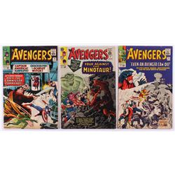 """Lot of (3) 1965 """"The Avengers"""" 1st Series Marvel Comic Books with #14, #17  #18"""