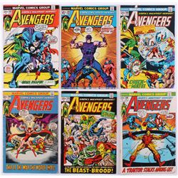 """Lot of (6) 1972-73 """"The Avengers"""" 1st Series Marvel Comic Books with #104, #105, #106, #107, #108  #"""