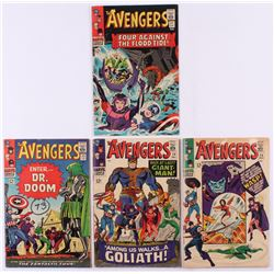 """Lot of (4) 1966 """"The Avengers"""" 1st Series Marvel Comic Books with #25, #26, #27  #28"""