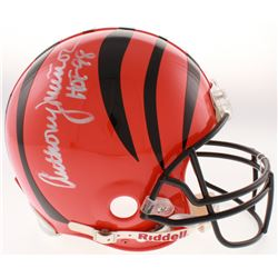 "Anthony Munoz Signed Cincinnati Bengals Full-Size Authentic On-Field Helmet Inscribed ""HOF 98"" (PSA"