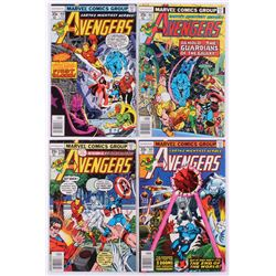 """Lot of (4) 1978 """"The Avengers"""" 1st Series Marvel Comic Books with #167, #168, #169  #170"""