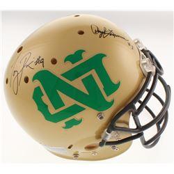 """Daryle Lamonica, Tony Rice,  Raghib """"Rocket"""" Ismail Signed Notre Dame Fighting Irish Full-Size Authe"""