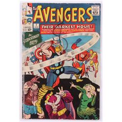 """1964 """"The Avengers"""" Issue #7 Marvel Comic Book"""