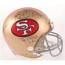 Joe Montana  Dwight Clark Signed San Francisco 49ers Full-Size Authentic On-Field Helmet with Origin