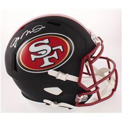 Joe Montana Signed San Francisco 49ers Matte Black Full-Size Speed Helmet (Beckett COA)