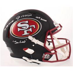 Joe Montana Signed San Francisco 49ers Matte Black Full-Size Authentic On-Field Speed Helmet Inscrib
