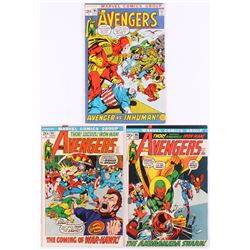 """Lot of (3) 1972 """"The Avengers"""" 1st Series Marvel Comic Books with #95, #96  #98"""