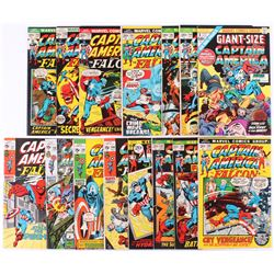 """Lot of (15) 1971-75 """"Captain America"""" 1st Series Marvel Comic Books with #1  #137-169"""