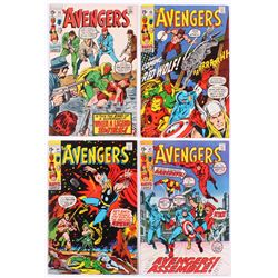 """Lot of (4) 1970-71 """"The Avengers"""" 1st Series Marvel Comic Books with #80, #81, #82  #84"""