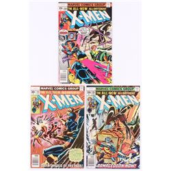 """Lot of (3) 1977-78 """"The Uncanny X-Men"""" 1st Series Marvel Comic Books with #106, #108  #110"""