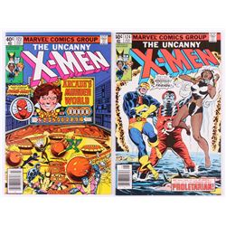 """Lot of (2) 1979 """"The Uncanny X-Men"""" 1st Series Marvel Comic Books with #123  #124"""