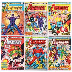 """Lot of (6) 1973-74 """"The Avengers"""" 1st Series Marvel Comic Books with #109, #110, #114, #116, #117  #"""