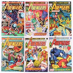 """Lot of (6) 1975-76 """"The Avengers"""" 1st Series Marvel Comic Books with #132, #133, #136, #137, #139  #"""