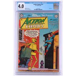 "1952 ""Action Comics: Superman's Invulnerable Foe!"" Issue #173 DC Comic Book (CGC 4.0)"