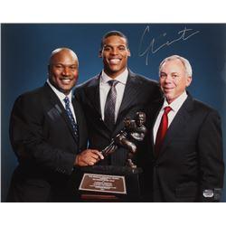"Cam Newton Signed ""The Heisman Memorial Trophy"" 16x20 Photo (Fanatics Hologram  Newton Hologram)"