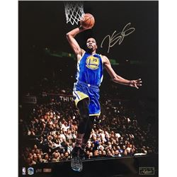 "Kevin Durant Signed Golden State Warriors ""Slam Dunk"" LE 16x20 Photo (Panini COA)"