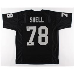 "Art Shell Signed Jersey Inscribed ""HOF -89-"" (Radtke COA)"