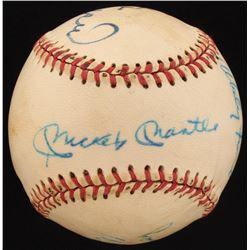 MLB Hall of Famers  Stars Baseball Signed by (8) with Mickey Mantle, Whitey Ford, Stan Musial, Phil