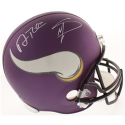 Adam Thielen  Stefon Diggs Signed Minnesota Vikings Matte Purple Full-Size Helmet (Schwartz COA)