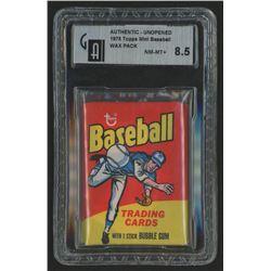 1975 Topps Mini Baseball Wax Pack (GA 8.5)