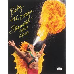 "Ricky ""The Dragon"" Steamboat Signed 11x14 Photo Inscribed ""HOF 2009"" (JSA COA)"